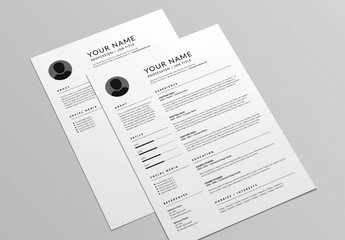 Classic Resume and Cover Letter Layout