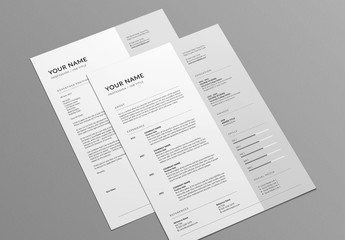 Contemporary Resume and Cover Letter Layout