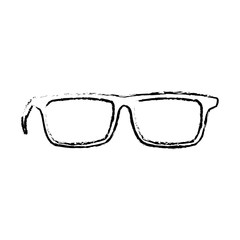 glasses accessory fashion lens frame icon vector illustration