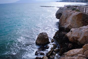 Peñas en el mar