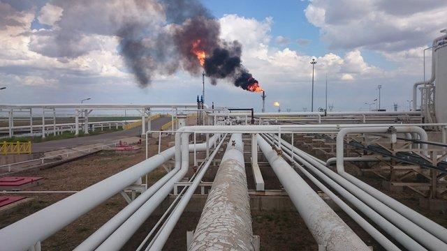 Iraqi kurdistan region oil refinery near the oil fields