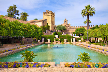 Jardins de l'Alcázar des rois chrétiens de Cordoue, Andalousie