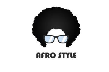 Afro Style Logo Illustration Design