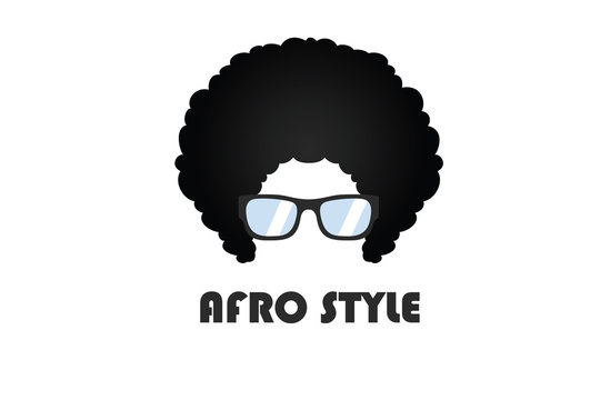 Afro Style Logo Template Flat Style Design Vector Illustration