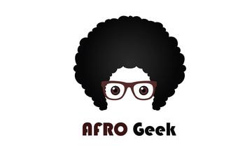 Afro Geek Logo Illustration Design