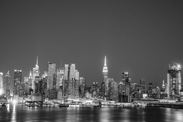 Aluminium Prints NYC SKYLINE BLACK AND WHITE