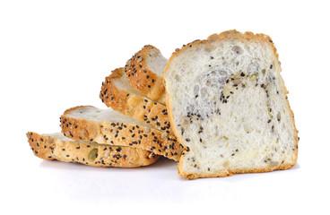 Whole wheat bread on white