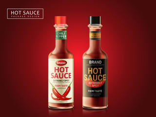 hot sauce package design