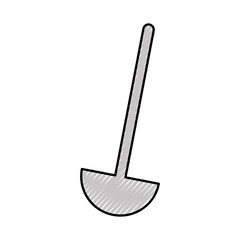 kitchen soup spoon isolated icon vector illustration design