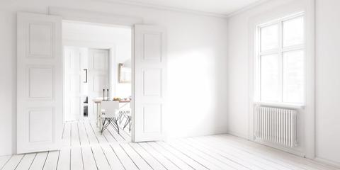 Inside my apartment (panoramic) III