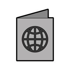 cute grey passport cartoon vector graphic design