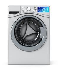 Washing machine isolated on white background. 3D illustration