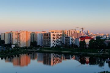 Warszawa - wczesny poranek nad Jeziorem Balaton