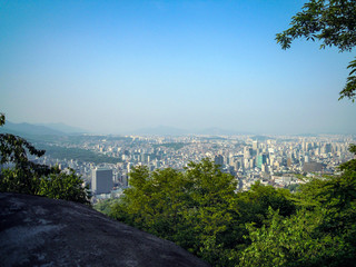 Panoramic view of Seoul in South Korea, Asia