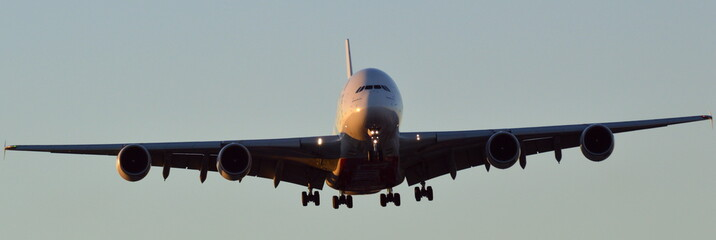 Airbus A380-800 coming in to land