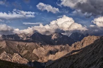 Mountain landscape, Kyrgyzstan, a mountainous valley