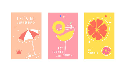 Simple summer illustration