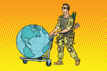 Military tourism, the mercenary with a cart Earth
