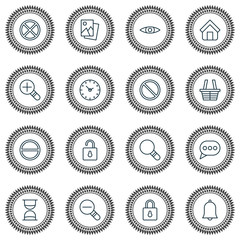 Web Icons Set. Collection Of Alert, Increase Loup, Obstacle And Other Elements. Also Includes Symbols Such As Clock, Trading, Block.