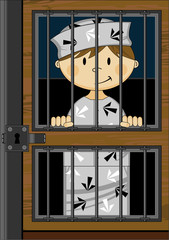 Cute Prisoners in Jail Cell