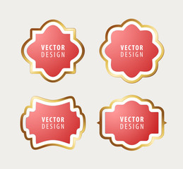 Set of High Quality Luxury Frames on Gray Background . Vector Isolated Illustration