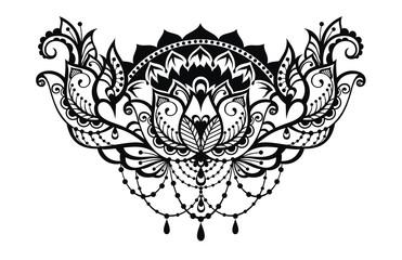 Lotus decorative  illustration