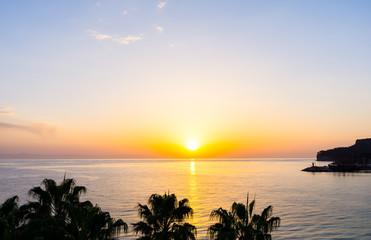 sunset on the sea. Turkey Kemer