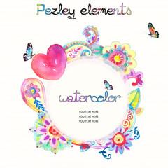 Watercolor Pezley Textiles Hand painted
