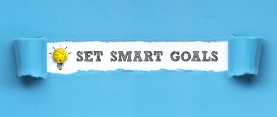 Set smart goals / papier
