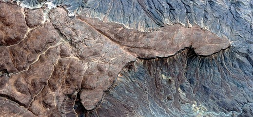 fotografía de los desiertos de África desde el aire