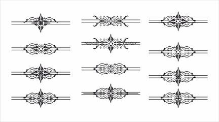 Decorative graphic element pattern