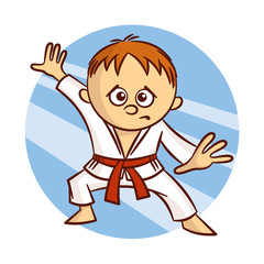 Karate Boy Sticker