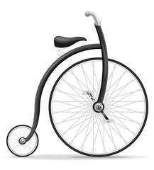 bike old retro vintage icon stock vector illustration