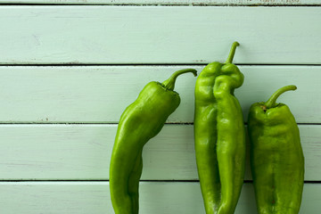 raw green peppers