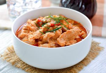 Panang curry with pork .thai food