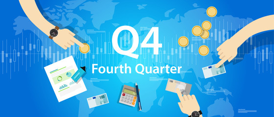 Q4 fourth quarter business report target corporate financial result Fotomurales