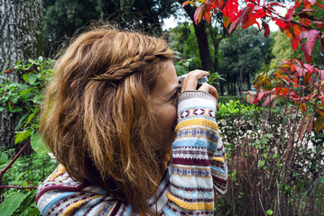 Young girl photographer