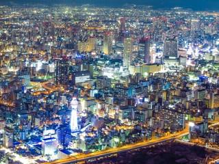 osaka nightscape, japan
