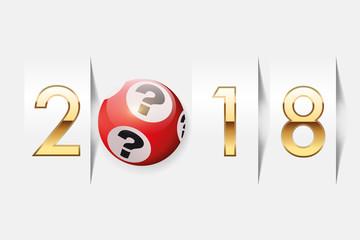 2018 - loto - chance - vœux - casino - jackpot -riche - bonheur - loterie