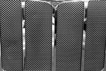Close up shot of big truck grill
