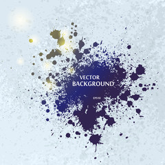 Ink blots splash background