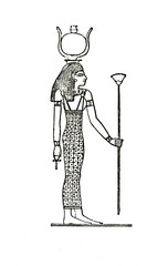 Nut, goddess of the sky in ancient Egyptian religion  (from Meyers Lexikon, 1896, 13/63)
