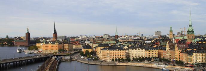 Panorama old town Gamla Stan in Stockholm, Sweden, Scandinavia