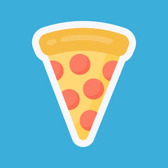 Pizza slice vecot flat icon
