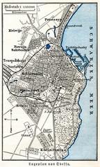 Map of Odessa, Ukraine (from Meyers Lexikon, 1896, 13/111)