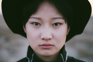 Portrait of a young chinese woman