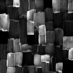 Abstract black and white background. Monochrome brush strokes texture. - 159018860