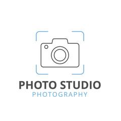Camera and Photography logo. Photography studio logo. Vector stock.