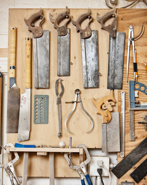 Woodworking Wall Of Cabinetry Tools