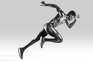 Sprinter african muscular man